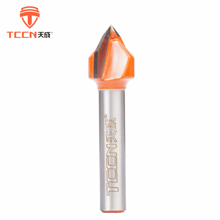 TCCN OEM 6.35-50.80mm Tungsten Carbide V Types Of Milling Cutter For Wood