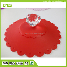 High quality custom various gifts silicone suction lid cup cover