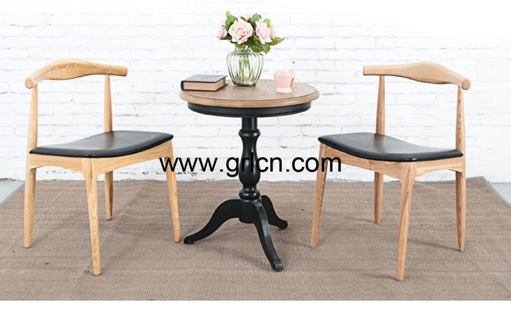 Solid oak wood coffee table wooden furniture buy wooden for Table 60x60 design