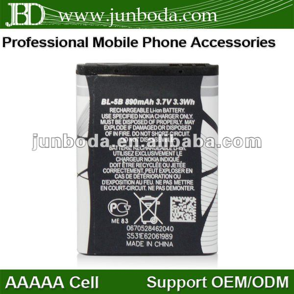 Cell phone batteries mobile batteries BL-5B for nokia N90/N83/N80/3220/3230/5070/5140/5140I/5200/5208/5300/5320XM/5500/6020