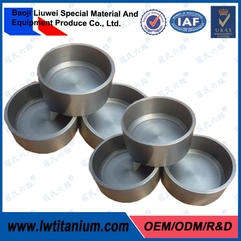 Super Quality Customized Forged Titanium Crucibles