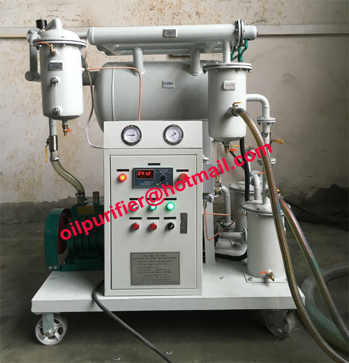 Economical Single Stage Vacuum transformer oil clean system, remove water,gas and particles