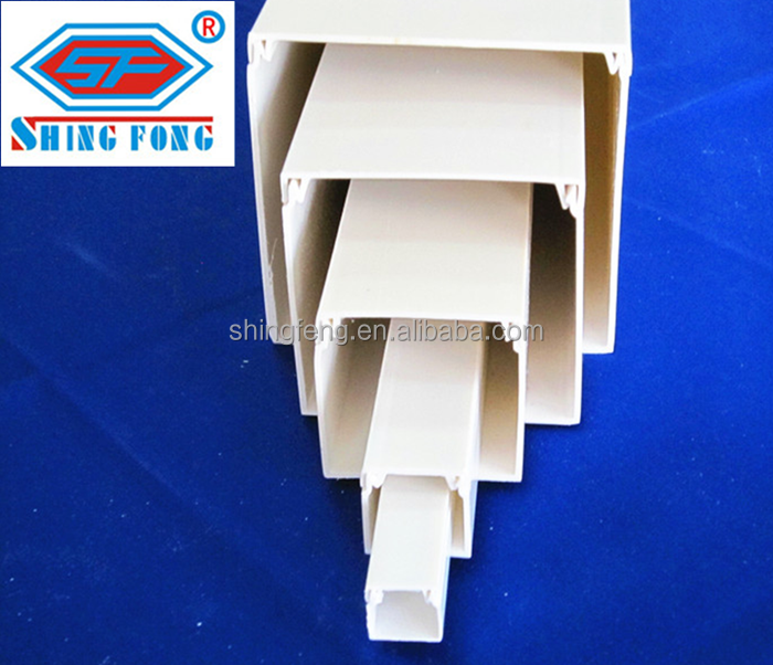 PVC Plastic Cable Wiring Duct With Cover