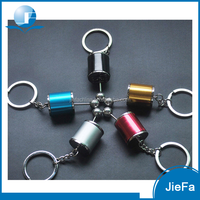 High quality wholesale promotional logo printed metal zinc alloy car gear turbo keychain