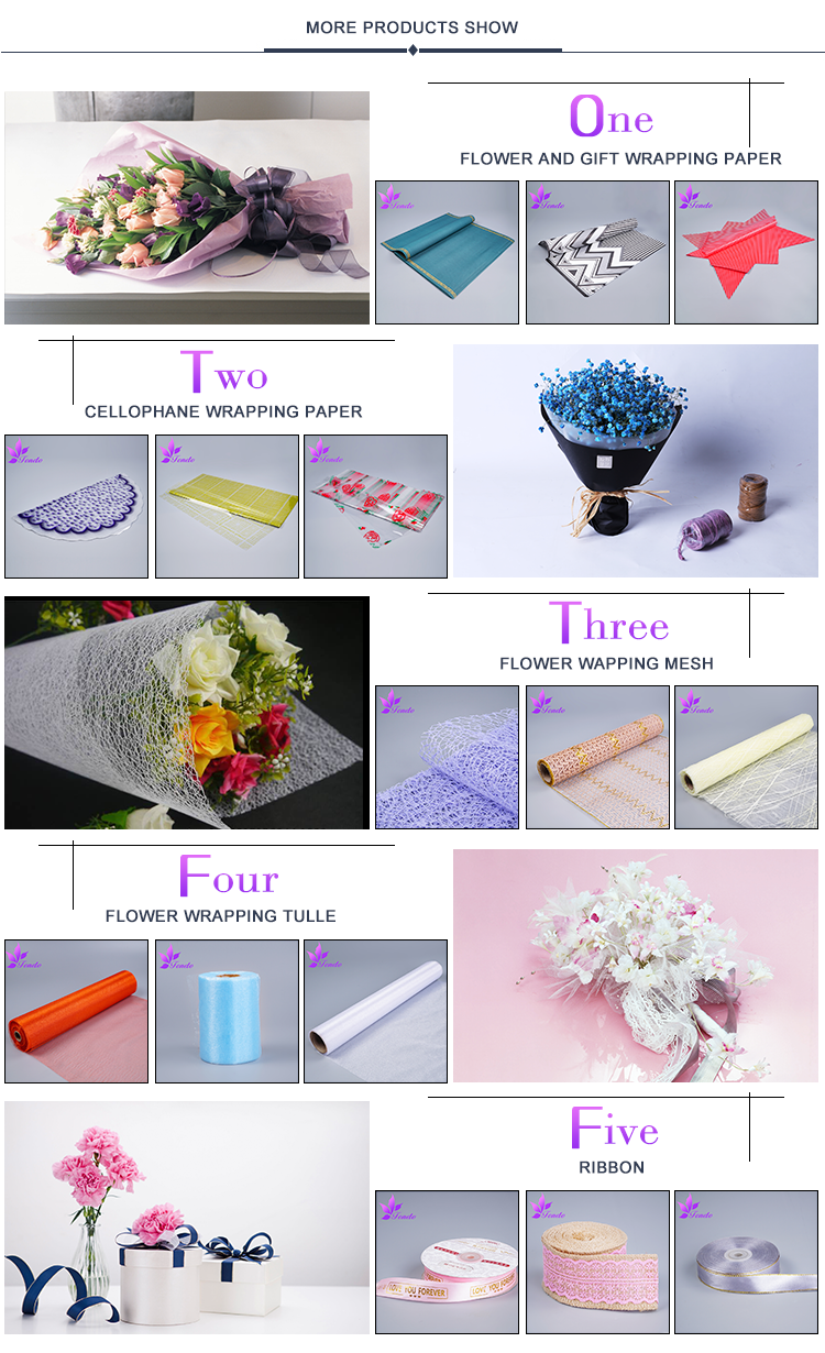 Wholesale td102 special flower wrapping paper yiwu flower wrapping 07g mightylinksfo
