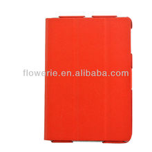 FL619 Promotion price litchi leather case for ipad mini, protective stand case for ipad mini, wallet pouch for ipad mini