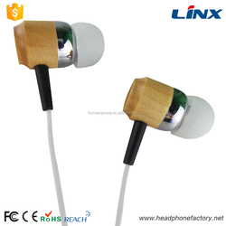 2016 new fashion stylish best quality alibaba wholesale classical real wood earbuds earphone