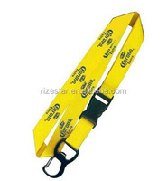 breakaway bright color bottle opener lanyards with logo