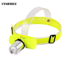 CYSHMILY 3 Modes high power portable 18650 waterproof led rechargeable mini diving headlight