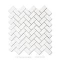 "1""x2'' paper onyx brick shaped white marble mosaic for sale"