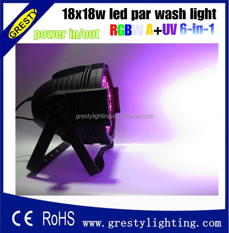 18W RGBWA UV Led Par Stage Light 18PCS 6IN1 High Power Professional 6/10 Channel Party Disco Show Spot Light