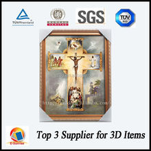 good price 3d picture frame of Jesus Chris