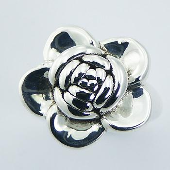 Striking Electroform Hallmarked 925 Sterling Silver Rose Ring