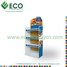 Custom Cardboard Store Displays for Hamburger, Corrugated Display for Food Display
