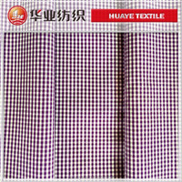 pure cotton narrow purple plaid fabric poplin fabric stock fabric for shirt