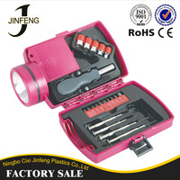 European Hot Sales hardware tool box with Flashlight