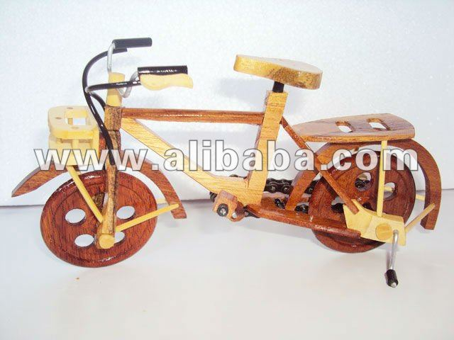 Handmade Art Model Bicycle by wooden