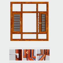 HS-JY8003 double leaf designs for homes inward opening casement window
