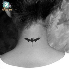 HC-20/New 2014 Waterproof Temporary Fake Body Art Bat back Tattoos Stickers Black