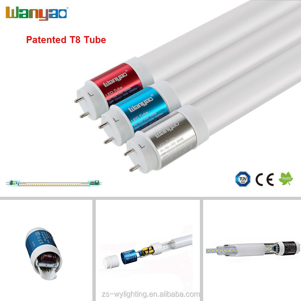 High quality single power input AC 85v-265v 18w 20w t8 led tube