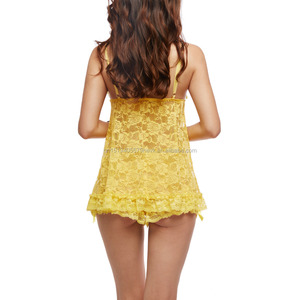 Hot Sale Lace Sexy Transparent Babydolls China Lingerie Manufacturers Fancy Lingerie for Women Babydolls
