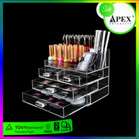 Apex Acrylic Desktop Makeup Organizer with Acrylic Lipstick Holder