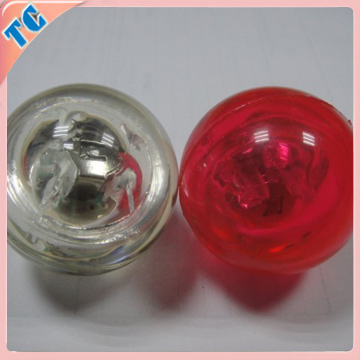 Customized logo bouncing balls with flashing light