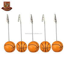 Custom made 5pcs decorative resin basket ball paper weight