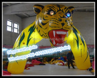 Factory Price!!!Vivid Event Animal Inflatable/Tiger Arch/Cartoon Archway/Mascot Tunnel W-10276