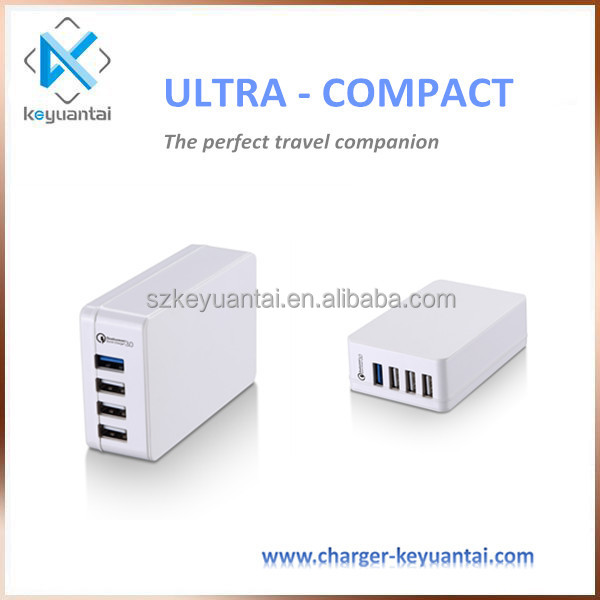Qualcomm 3.0 Quick Charge Intelligent Usb Charger Fast Charging 38W 4 Port Multi Usb Wall Charger