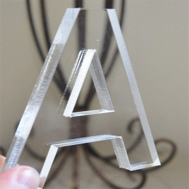 Factory direct sale laser cut clear acrylic letters