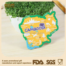 Wholesale animal/map Promotional Cheap Custom Tourist Souvenirs Blank 3D Soft Pvc Rubber Fridge Magnet