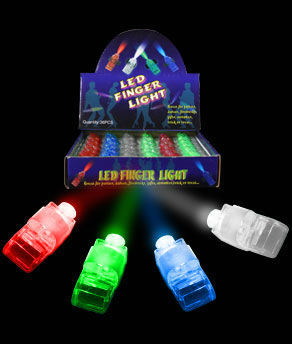 LED laser assort finger ring for party and promotional