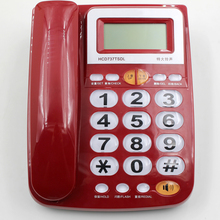 Hot sale Caller ID phone with big transparant button and handsfree dialing