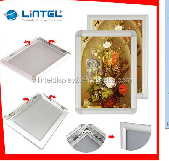 aluminum picture photo snap frame