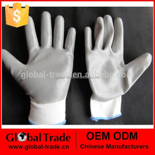 Smooth Nylon Knit Soaked Gray nitrile layer 13-pin Nitrile Gloves 450145