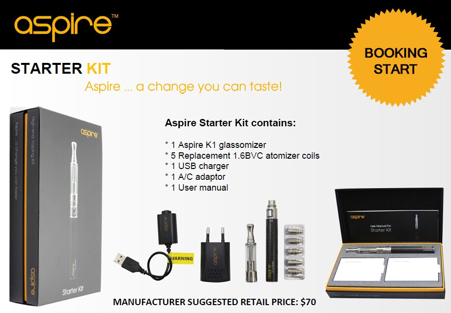 Wholesale electronic cigarette Aspire Starter kit replacement coil aspire bvc coils