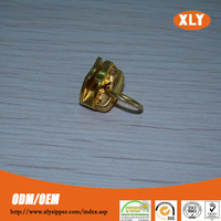 Factory supply #3 high quality light gold metal ring slider for sale