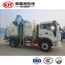 Hydraulic lift large garbage container with waste compactor garbage trucks