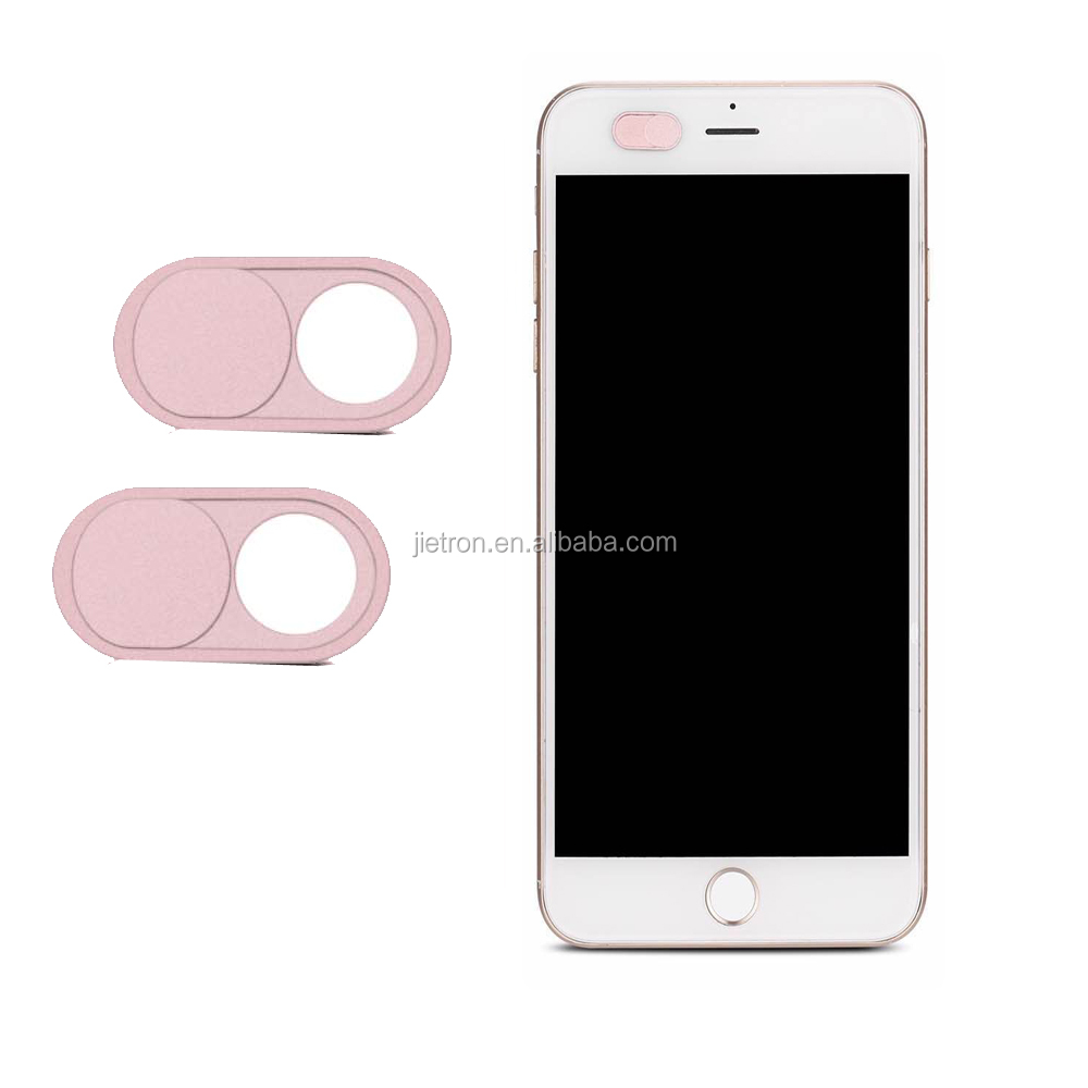 Webcam Cover for iPhone Android Smartphones-Rose gold color /2-pack, with blister card packing