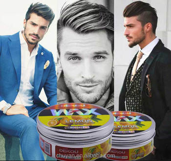 China manufacturer professional elegance color hair styling wax extreme hold lemon hair wax