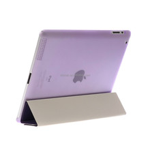 Top quality factory price custom PC PU hard shell cover case for ipad air case for ipad mini case Light purple
