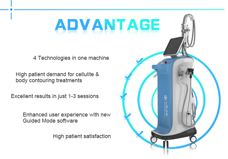 Vacuum cavitation+RF+ Roller Slimming Machine for weight loss / Velashape 3 / Vela Shape