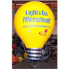 giant inflatable advertising lamp, bulb shaped balloon, flying helium balloons
