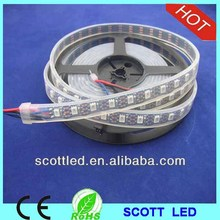 Black PCB 4M WS2813 LED Strip 5050 SMD LED RGB light,60leds/m with 60pcs WS2811 built-in,4m/reel,waterproof in tube,DC5V input