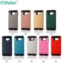 2017 New Arrival Brushed Combo Hybrid Cell Phone Cover Case For Samsung Galaxy S7 Edge
