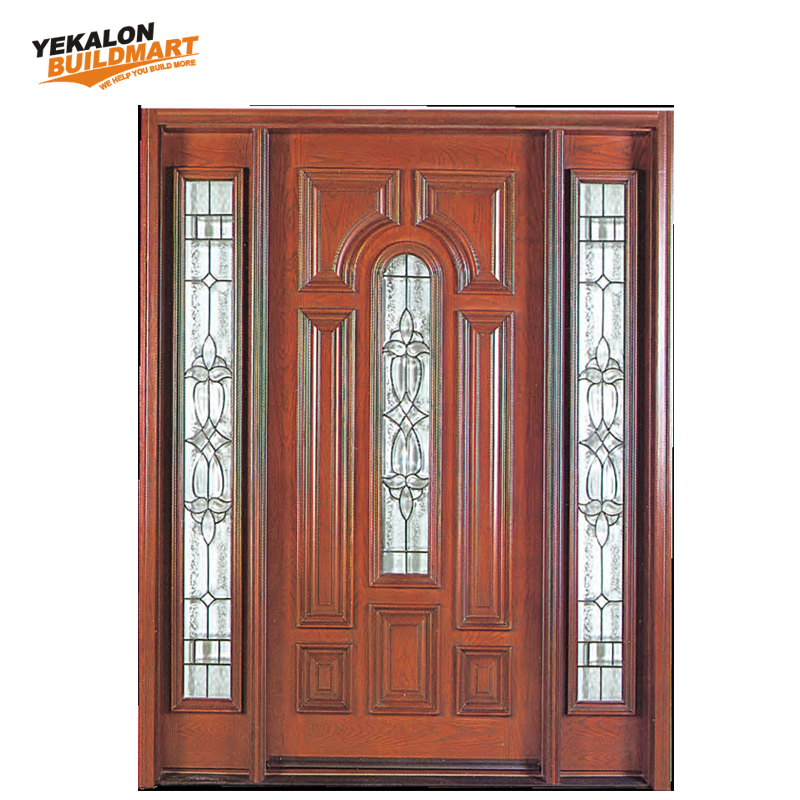 Solid Wood Glass Main Entrance Door Fancy Wood Door Design Buy