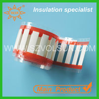 White Cable Insulation Identification Cable Marker Tube
