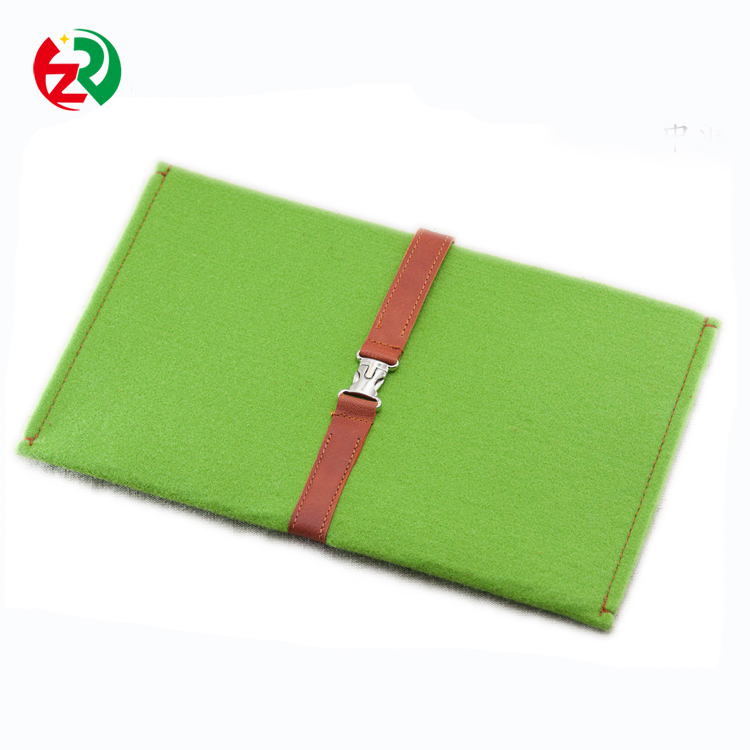Easy design whloesale felt mobile phone case,high quality leather cell phone cover from China