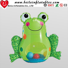 Wholesale inflatable flog roly-poly and green inflatable roly-poly with balls for children